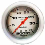 เกจวัดบูส AutoMeter หน้าน้ำมัน-เงิน 2.5นิ้ว 3.5PSI