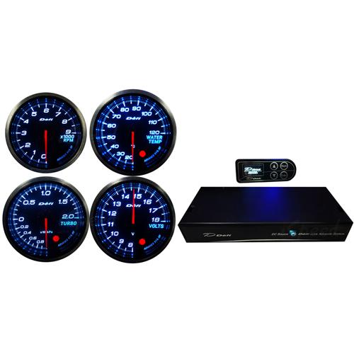 เกจ์ Defi 300สี RPM-Volt-Water-Turbo-กล่องควบคุม