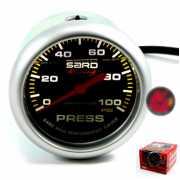 เกจ์Fuel-Press SARD 2.5นิ้ว (หน้าน้ำมัน) 100psi(หน้าปัดดำ)