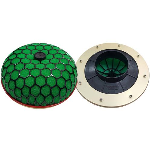 กรองเปลือย ดอกเห็ด HKS Super Flow ปาก100.0mm(4.00นิ้ว) สีเขียว