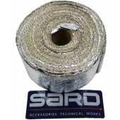 ผ้าพันท่อเฮดเดอร์ SARD ทนความร้อน 800องศา ขาว+ฟรอย ยาว5M
