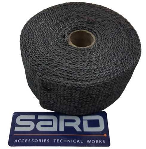 ผ้าพันท่อเฮดเดอร์ SARD ทนความร้อน 1200องศา Carbonดำ ยาว5M