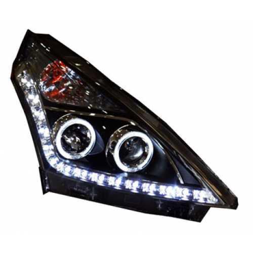 ไฟหน้าโปรเจคเตอร์ Nissan Teana 2009 โคมดำไฟวงแหวน LED