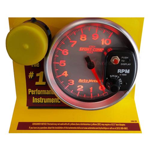 เกจวัดรอบ RPM Auto Meter หน้าขาว-อักษรแดง 5.0นิ้ว