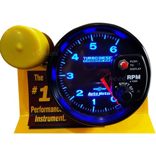เกจวัดรอบ RPM Auto Meter หน้าดำ-อักษรฟ้า 5.0นิ้ว