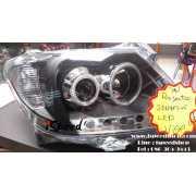 ไฟหน้า Projector วงแหวน LED โคมดำ Toyota Vigo 2005